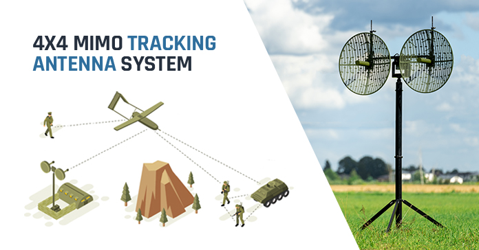 Octopus ISR Systems 4x4 MIMO tracking antenna system