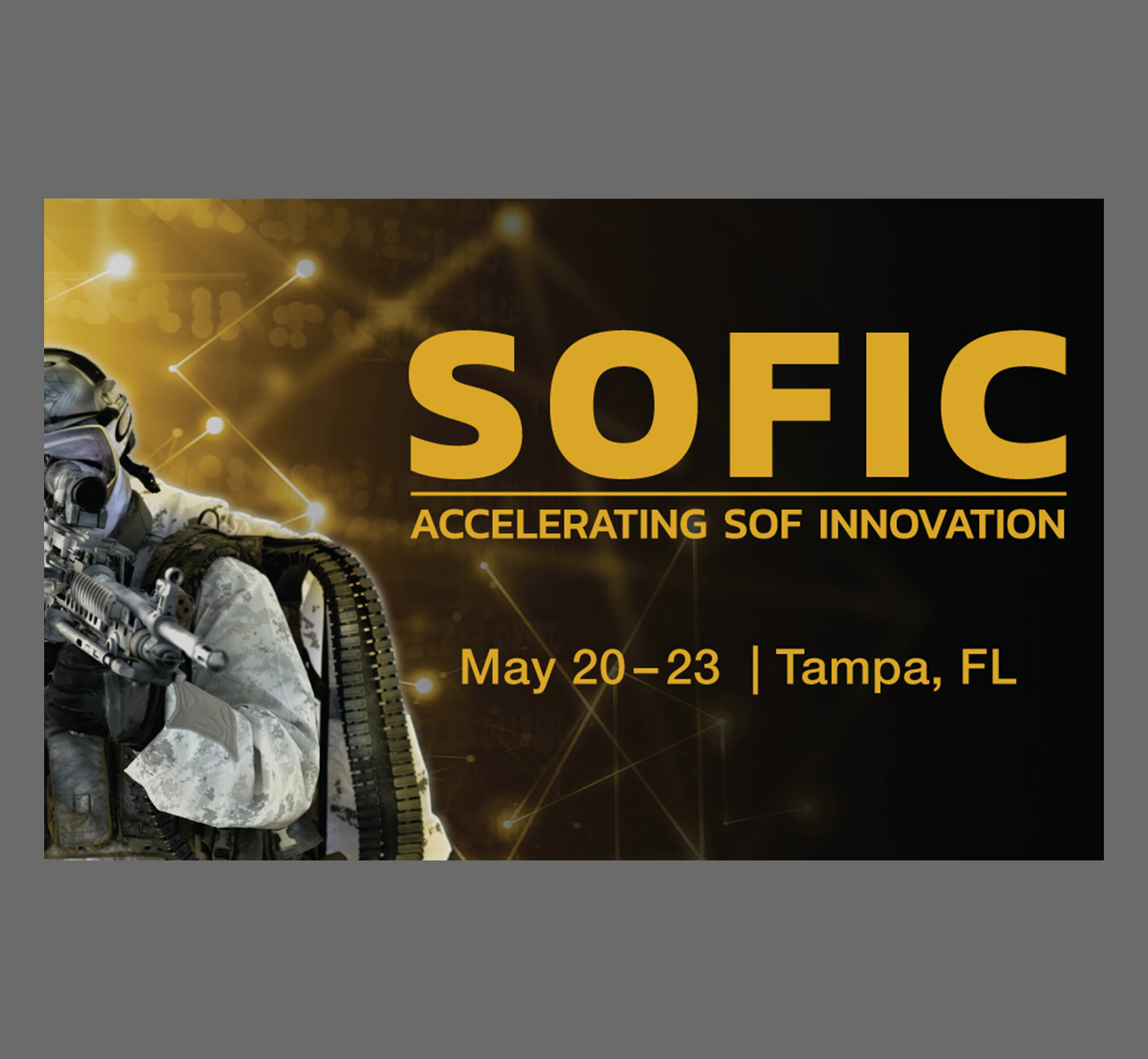 Meet the Octopus ISR Systems team at SOFIC 2019, Tampa, May 20-23